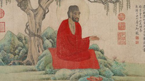 Arhat in Red by Zhao Mengfu (Photo/Courtesy of the Palace Museum)