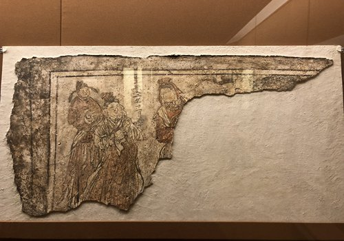 Ancient wall paintings from Shanxi Museum (Photo/GT)