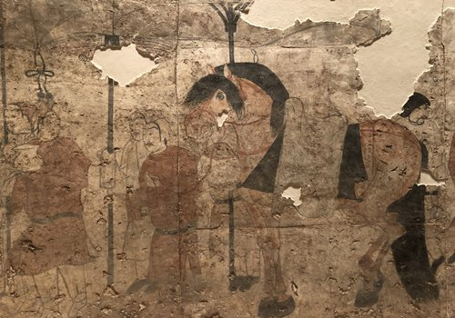Wall paintings from the Shuiquanliang Tomb (Photos: Chen Shasha/GT)