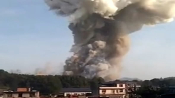 Explosion reported at fireworks factory in SE China