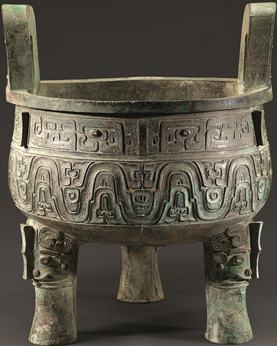 Da Ke Ding, a 2,000-year-old bronze tripod, is one of the most important artifacts at the Shanghai Museum. (PHOTOS PROVIDED TO CHINA DAILY)
