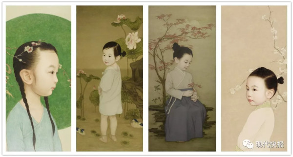 Artistic Wuxi father paints his daughters