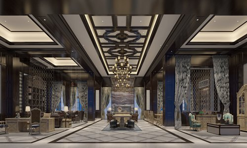 The lobby of the club house at The Ritz-Carlton, Haikou (Photo/Courtesy of The Ritz-Carlton, Haikou)