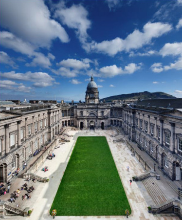 File photo of the University of Edinburgh. (Provided to China Daily)