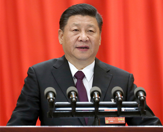 President Xi Jinping delivers a keynote speech at the closing meeting of the first session of the 13th National People's Congress in Beijing on March 20, 2018. (Photo/Xinhua)