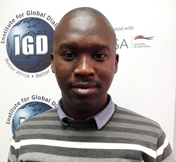 Sikhumbuzo Zondi, research assistant at the Institute for Global Dialogue associated with the University of South Africa