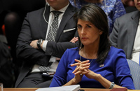 Envoy Haley: U.S. troops not leaving Syria until goals accomplished