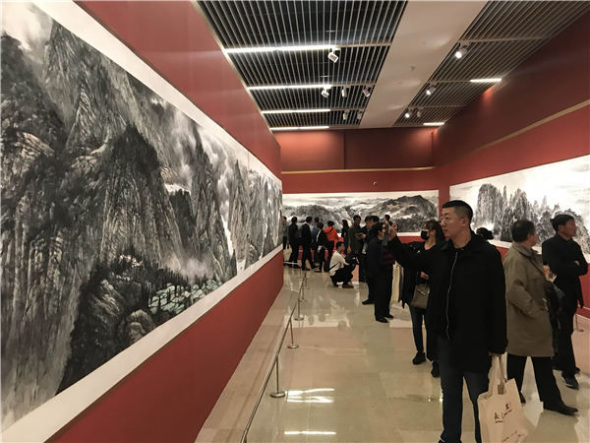 50位艺术家描绘了长江水墨画的风景