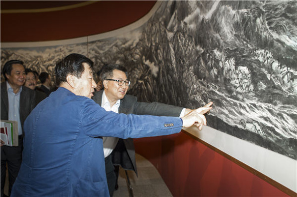 50 artists depict Yangtze's landscape on ink painting(2)