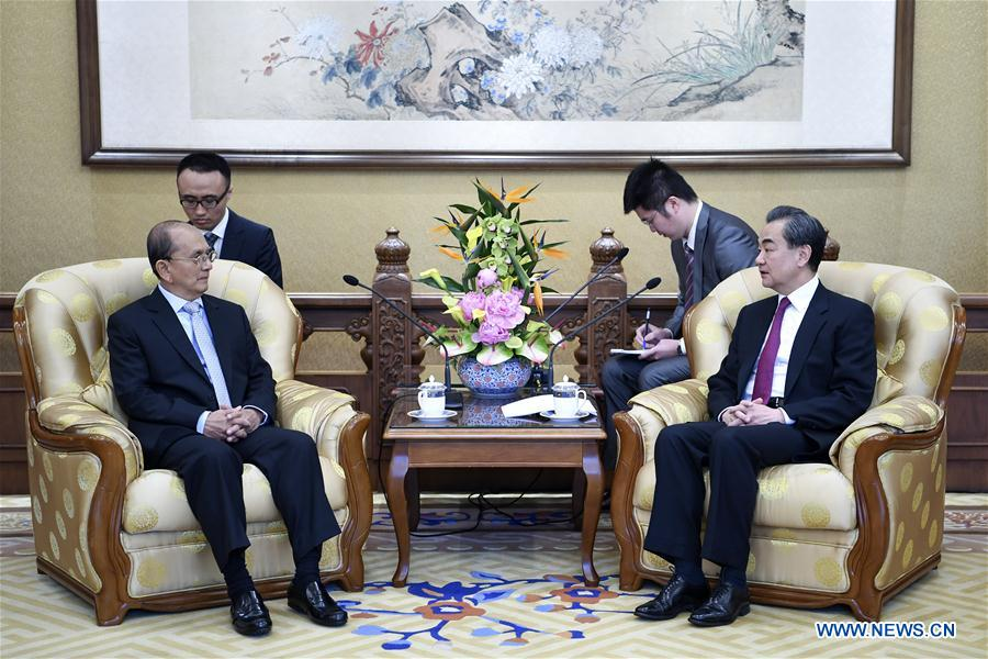 Chinese state councilor meets with former Myanmar president