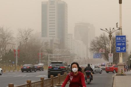 在我国少数地区会有持续的烟雾