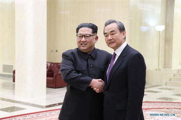 Chinese FM, DPRK top leader discuss ties, issues on Korean Peninsula
