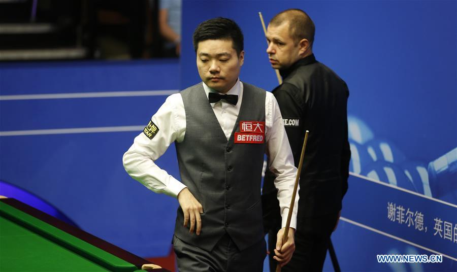 China's Ding crashes out at snooker worlds quarterfinals