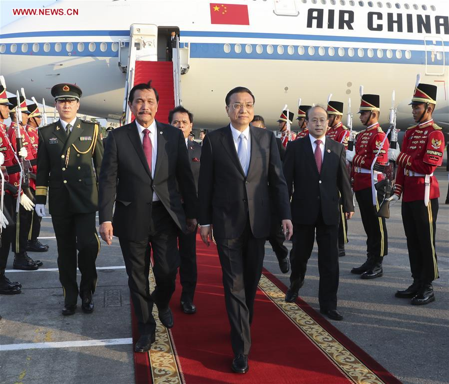 Chinese premier arrives in Indonesia for official visit