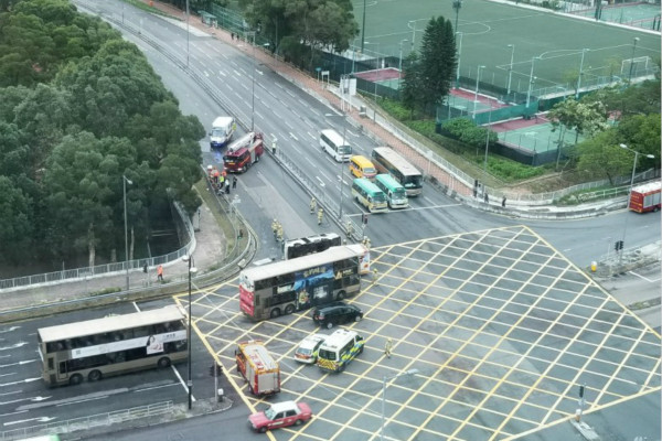At least 10 injured in car crash in Hong Kong