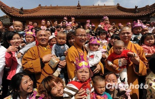 Kids born at temple after Wenchuan quake reunite in film
