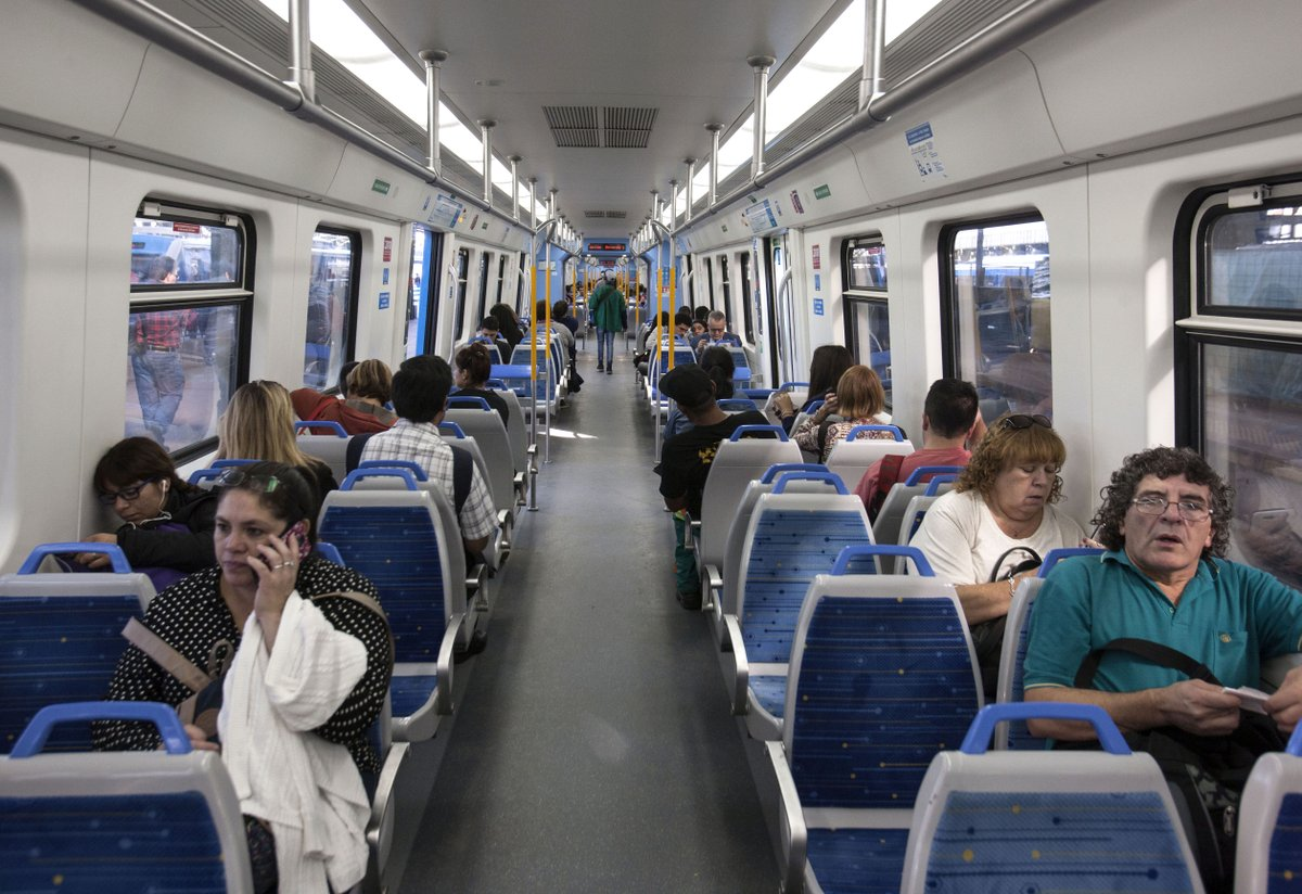 Chinese-built trains improve rides for Argentine commuters, conductors