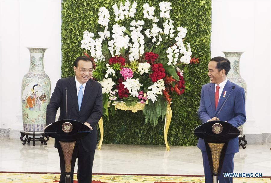 China to promote bilateral ties with Indonesia to new level: premier