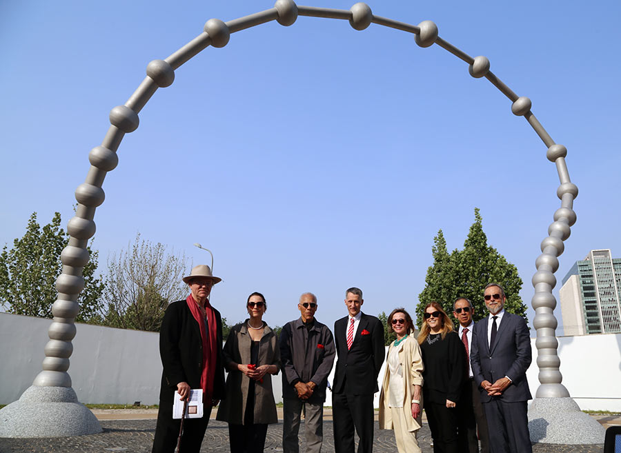U.S. Embassy's new sculpture in Beijing aims to connect
