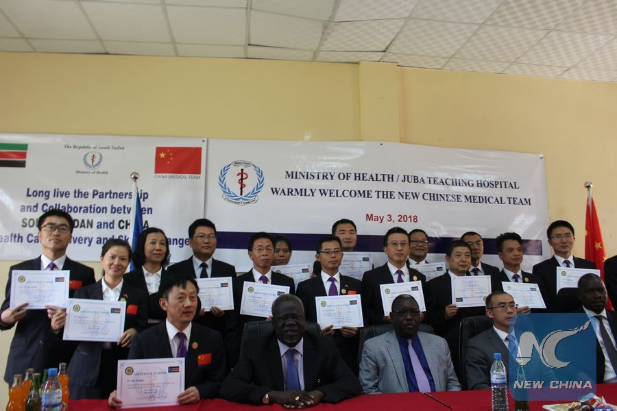 South Sudan honors Chinese doctors for outstanding medical services