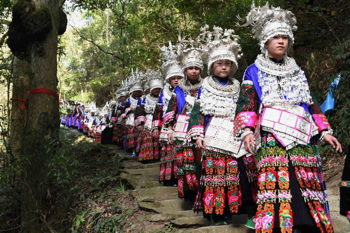 Guizhou residents protect cedar forest