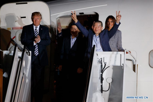 Three detainees freed as Trump-Kim summit set