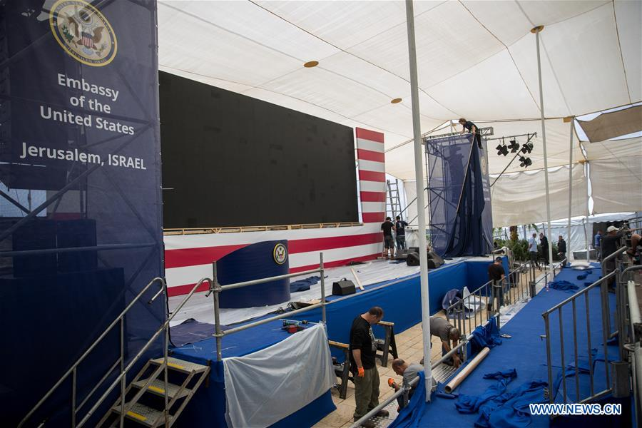 Israel prepares for inauguration of new U.S. embassy in Jerusalem