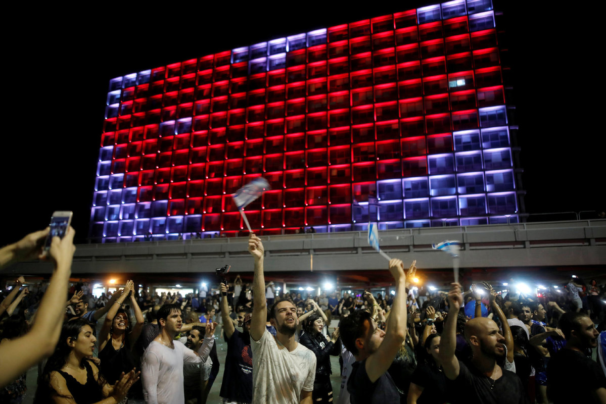 Israelis celebrate Eurovision Song Contest victory