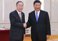 Xi tells Ban Ki-moon: China's door of opening up will open even wider