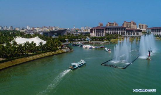 Photo taken on March 23, 2018 shows the Inaugural Ceremony Site of Boao Forum for Asia, Qionghai City of south China's Hainan Province. (Xinhua/Yang Guanyu)
