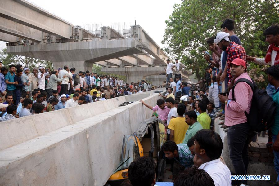 18 killed as under-construction flyover collapses in India