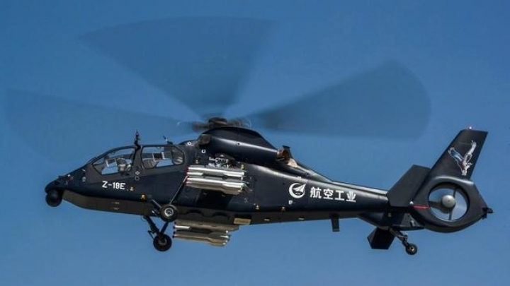 China's Z-19E armed helicopter completes firing tests
