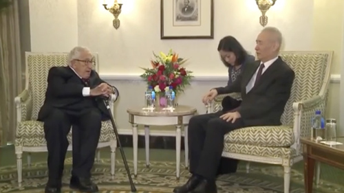 Chinese Vice Premier Liu He meets Kissinger in Washington