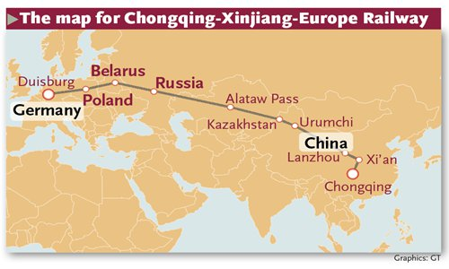 ChinaEurope trains on track