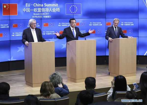 Full Text: List of Outcomes of the 19th China-EU Summit
