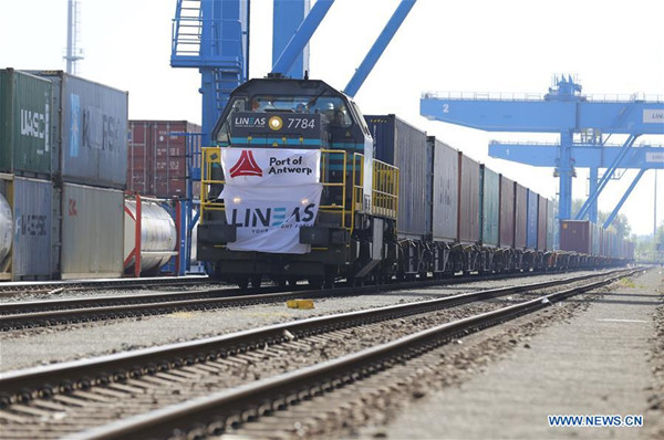 First China-Belgium freight train from China's Tangshan arrived in Antwerp