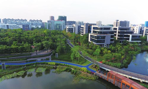 An overview of Hainan Resort Software Community in Haikou, capital of South China's Hainan Province on Thursday. (Photo: Li Xuanmin/GT)