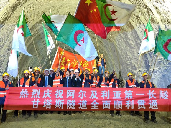 Chinese company constructs longest railway tunnel in N Africa