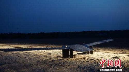 A solar-powered unmanned aerial vehicle. (Photo/China News Service)