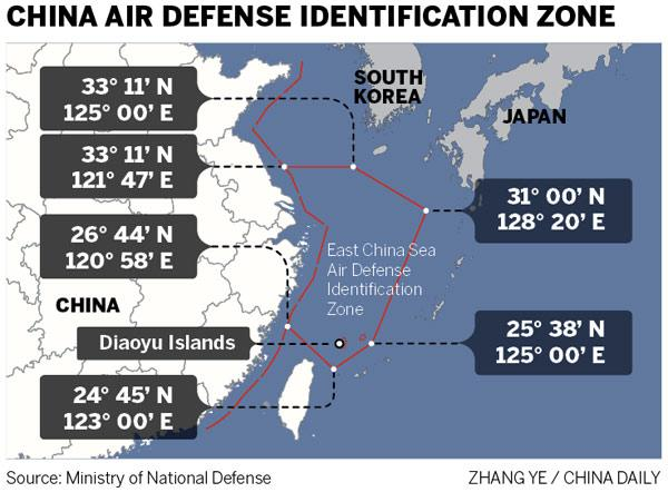China's new air defense zone is in line with global practice: experts