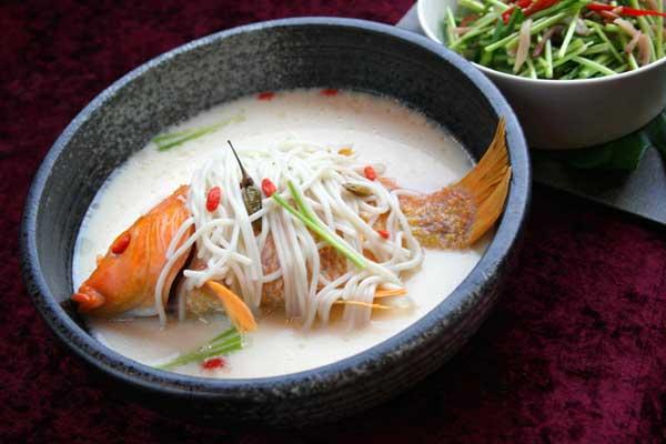 Milky carp soup [Photo provided to China Daily]
