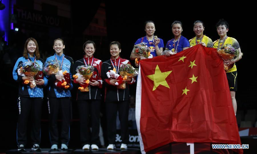 China Secures 2 Golds In Badminton Worlds