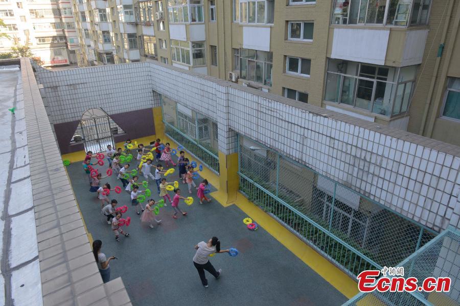 Mini Sized Playground On Kindergarten Roof 1 6