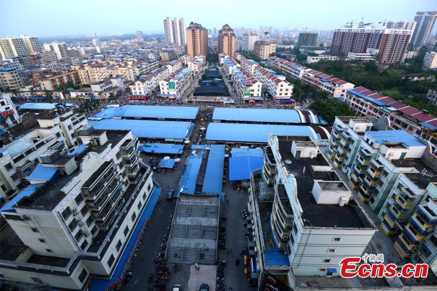 Qinzhou China  city photos gallery : Unfinished overpass obstructs traffic in S China city 4/6 ...