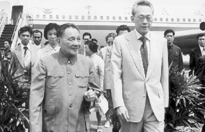 Kết quả hình ảnh cho picture of lee kuan yew and deng xiaoping