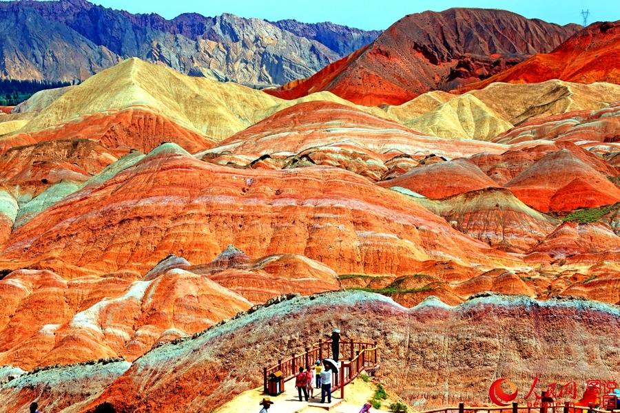 Zhangye China  city pictures gallery : ... park in zhangye city northwest china s gansu province danxia which