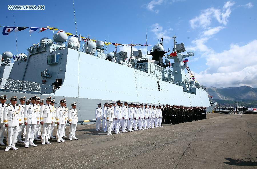 China, Russia launch joint naval drills