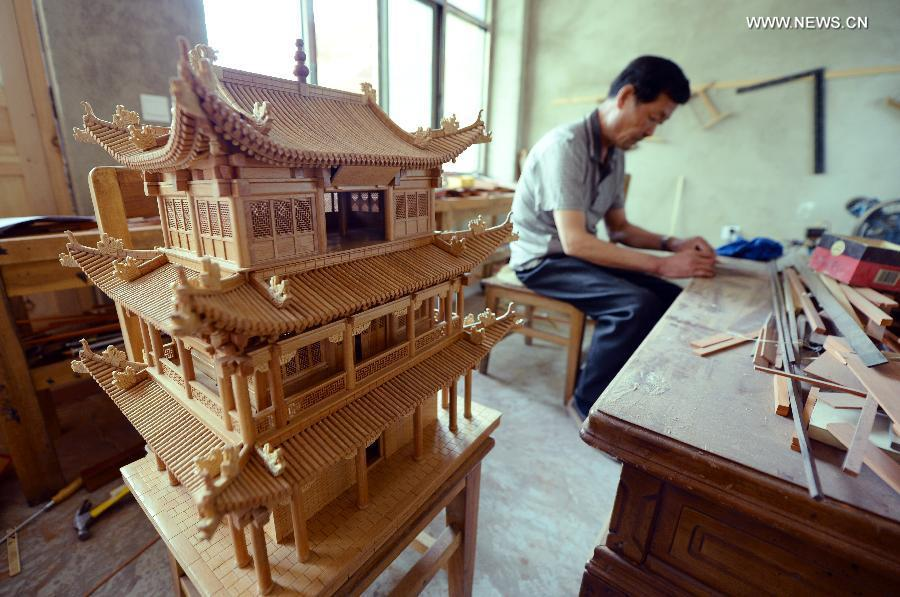 D Exhibition China : Miniature buildings built to preserve skill of ancient