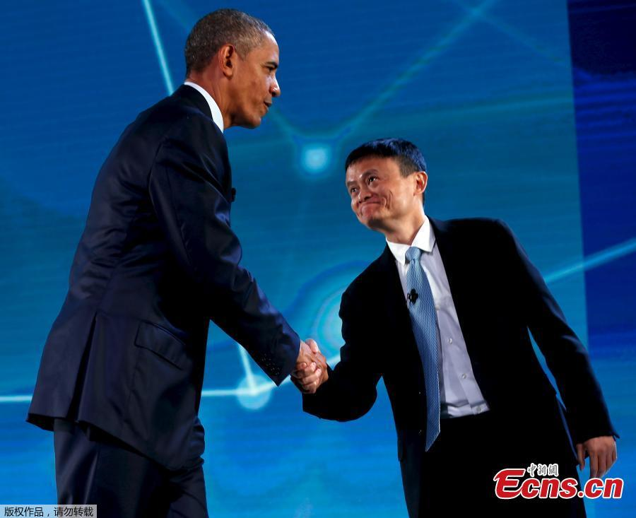 U S President Barack Obama Talks With Jack Ma At Apec Ceo Summit 4 4