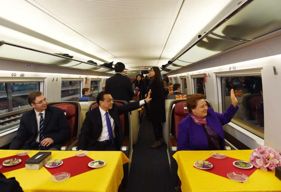 Li invites CEE leaders to high-speed train ride
